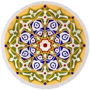 Islamic Art 09 Round Beach Towel by Antony McAulay
