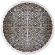 Islamic Wooden Texture Round Beach Towel by Antony McAulay