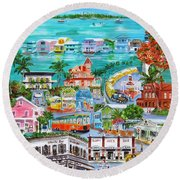 Island Daze Round Beach Towel