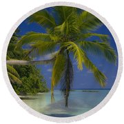 Island Dream Round Beach Towel by Dee Cresswell