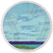 Island Estuary Round Beach Towel