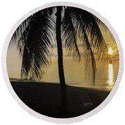 Island Gold Round Beach Towel