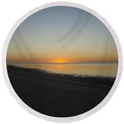 Island Sunset Round Beach Towel by Robert Nickologianis