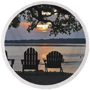 Island Time Round Beach Towel