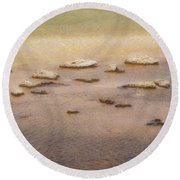 Round Beach Towel featuring the photograph Islands In The Stream by Nadalyn Larsen