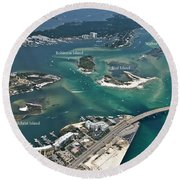 Islands Of Perdido - Labeled Round Beach Towel