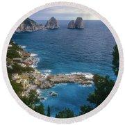 Isle Of Capri Round Beach Towel