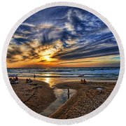 Round Beach Towel featuring the photograph Israel Sweet Child In Time by Ron Shoshani