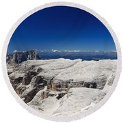Italian Dolomites - Sella Group Round Beach Towel