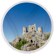 Italian Landscapes - Forgotten Ages Round Beach Towel