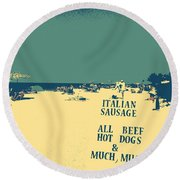 Round Beach Towel featuring the digital art Italian Sausage by Valerie Reeves