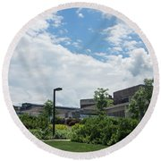Ithaca College Campus Round Beach Towel