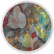 Round Beach Towel featuring the painting It's Electric by Robin Maria Pedrero