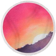 It's Not About The Climb  Rather What Awaits You On The Other Side Round Beach Towel by Chrisann Ellis