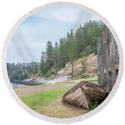 It's Over Round Beach Towel by Jola Martysz