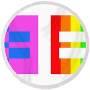 It's Time - Equal Rights For All By Sharon Cummings Round Beach Towel