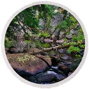 Round Beach Towel featuring the photograph Ivanhoe Serenity by Jeremy Rhoades