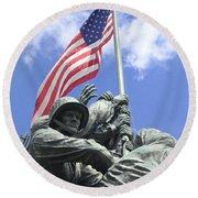 Iwo Jima Memorial Round Beach Towel