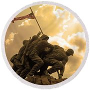 Iwo Jima Memorialized Round Beach Towel