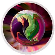Jack In The Pulpit Globe Round Beach Towel by Robin Moline