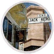 Jack Kerouac Alley And Vesuvio Pub Round Beach Towel
