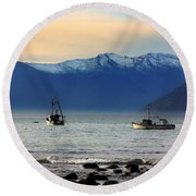 Round Beach Towel featuring the photograph Jackson Bay South Westland New Zealand by Amanda Stadther