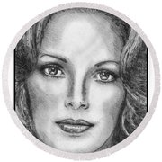 Jaclyn Smith In 1976 Round Beach Towel