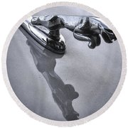 Jaguar Leaper And Reflection Round Beach Towel
