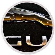 Jaguar Leaper F-type Spoiler Round Beach Towel