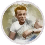 James Dean Round Beach Towel