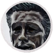 Round Beach Towel featuring the photograph James Dean The Rebel by Kyle Hanson