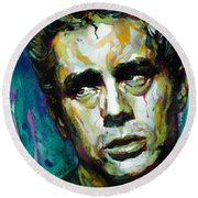 James... Round Beach Towel by Laur Iduc