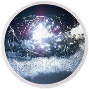 Jammer Cosmos 010 Round Beach Towel by First Star Art