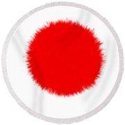 Japan Flag Round Beach Towel