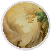Japanese Autumn Round Beach Towel