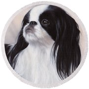 Japanese Chin Painting Round Beach Towel
