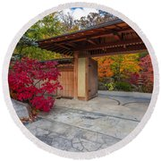 Round Beach Towel featuring the photograph Japanese Main Gate by Sebastian Musial
