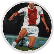 Jari Litmanen Round Beach Towel by Paul Meijering