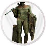 Jason And The Golden Fleece Round Beach Towel