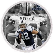 Jason Witten Cowboys Round Beach Towel