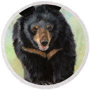 Jasper Moon Bear - In Support Of Animals Asia Round Beach Towel