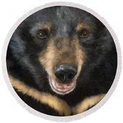 Jasper Moon Bear - In Support Of Animals Asia Round Beach Towel