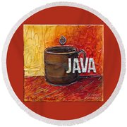 Java Round Beach Towel by Phyllis Howard
