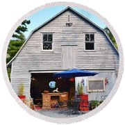 The Old Barn At Jaynes Reliable Antiques And Vintage Round Beach Towel