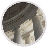 Jefferson Memorial Architecture Round Beach Towel