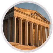 Jefferson Memorial Sunset Round Beach Towel