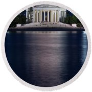 Jefferson Memorial Washington D C Round Beach Towel