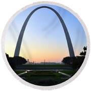 Jefferson National Expansion Memorial Round Beach Towel