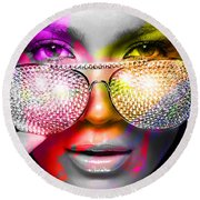 Jennifer Lopez  Round Beach Towel