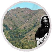 Jerry Garcia And Mount Tamalpais Round Beach Towel